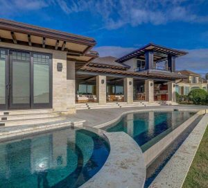 Bluffton Home Builders | Exterior of Modern Home with Pool